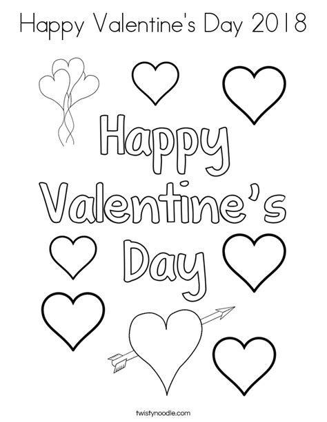 happy valentine s day flowers coloring page free happy valentine s day 2018 coloring page twisty noodle