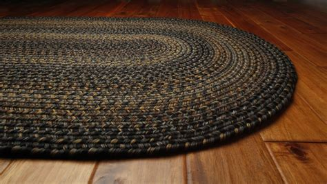 black braided rugs homespice decor ultra durable black forest braided rugs