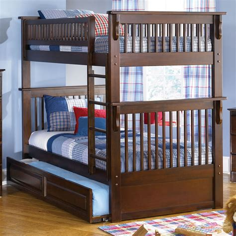 wooden loft bed full size full size bed with twin bunk home ideas