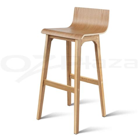White Wooden Bar Stool 4x Oak Wood Bar Stools Wooden Barstool Dining Chairs Kitchen Plywood White 3630 Ebay