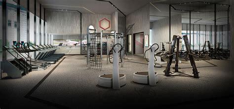 luxurious high tech gyms futuristic equipment