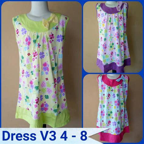 Pusat Grosir Baju Chelsea Dress Katun Ima grosir dress v3 size 4 8 anak perempuan murah tanah abang rp 22 500