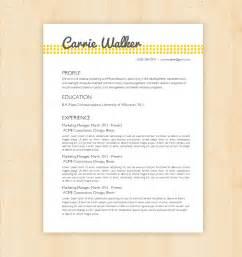 Kitchen Designer Resume Resume Template Cv Template The Carrie Walker By Phdpress
