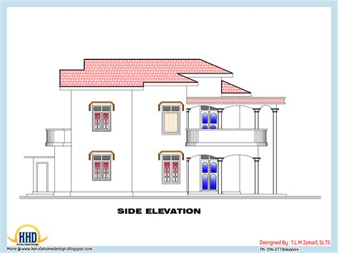 side view house plans 2318 square feet home plan and elevation kerala home design and floor plans