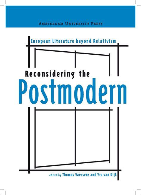 postmodern picture books reconsidering the postmodern european literature beyond