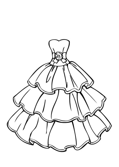 imagenes para colorear vestido los dibujos para colorear dibujos de ropa para colorear