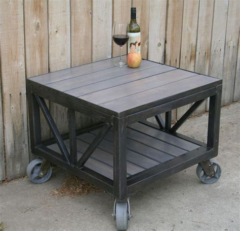 Scrap Metal Countertops by Handmade Scrap Metal And Reclaimed Wood Coffee Table