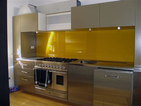yellow kitchen splashback rams glass our work
