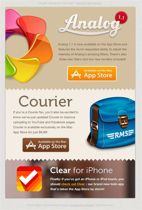 design inspiration email email inspiration realmac software newsletter email
