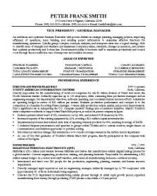 General Manager Assistant Sle Resume by Exle Resume Of General Manager Augustais
