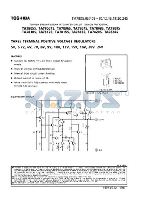 transistor d2627 datasheet ta7809s datasheet three terminal positive voltage regulators ta7809s pdf by toshiba