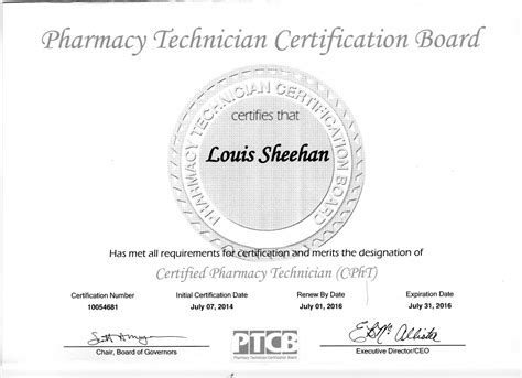 Pharmacy Board Certification by Pharmacy Technician Certification Board Website And Ptcb