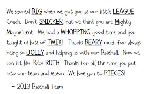 thank you letter sle coach angela yosten baseball coach bouquet and buckets
