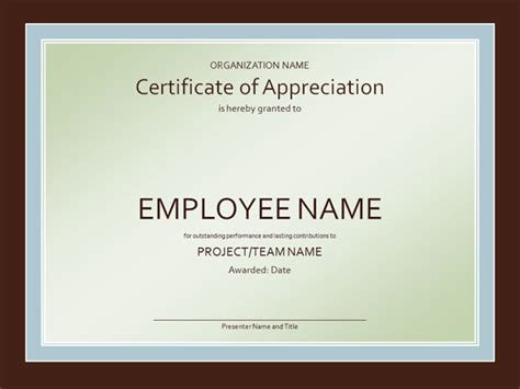 free recognition certificate templates