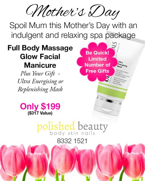 hair dresser s day spoil mum with a spa package deal polished beauty