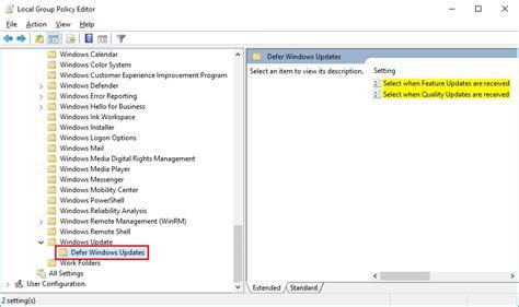 defer layout update deferring updates in windows 10 version 1703 or newer