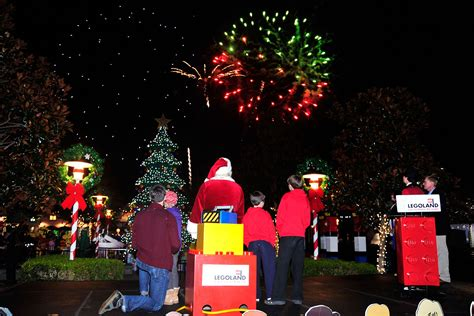 legoland christmas legoland california tree lighting 2014 theme park adventure