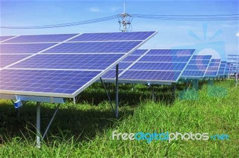 solar panels on green grass stock photo royalty free