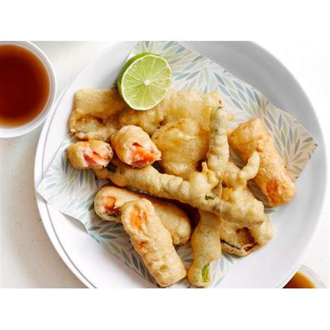 vegetables that go with salmon salmon and vegetable tempura recipe food to
