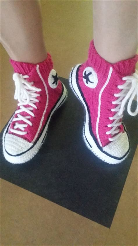 crochet converse slippers pattern free converse crochet and knit patterns andrea s notebook