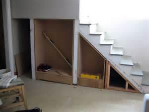 Under Basement Stairs Storage Ideas by Basement Stair Storage Dream Home Pinterest