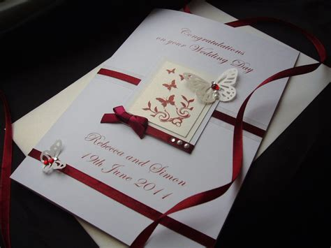 Handmade Cards Uk - luxury handmade wedding card handmade cards pink posh