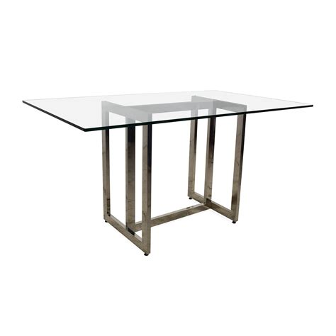 56 west elm west elm hicks glass top dining table