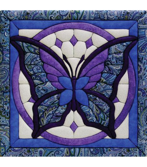 butterfly quilt magic kit 12 quot x12 quot jo