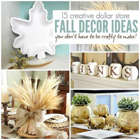dollar store home decor 15 creative dollar store fall decor ideas anyone can make