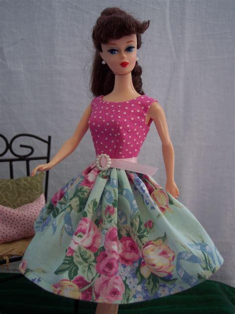 handmade vintage doll clothes by brenda pink polka