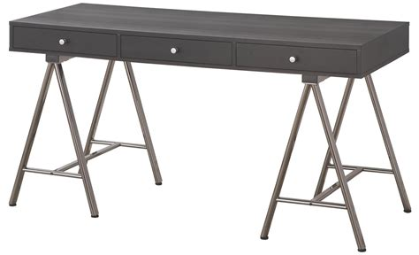 coaster 801016 black metal desk steal a sofa furniture