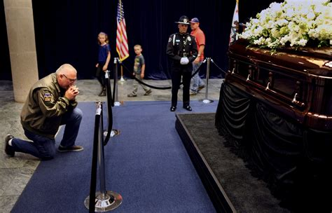 nancy s casket placed at presidential library in