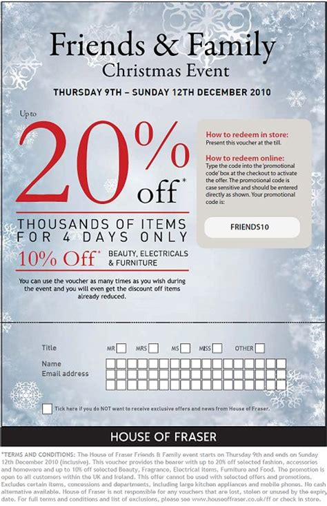 printable house of fraser vouchers house of fraser swindon 20 off weekend 2010 swindonweb
