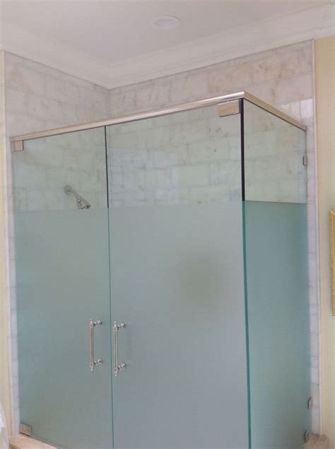 11 Best Frosted Shower Glass Images On Pinterest Frosted Shower Glass Doors