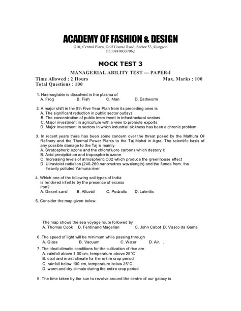 fashion illustration question paper nift question papers for fashion management mat1