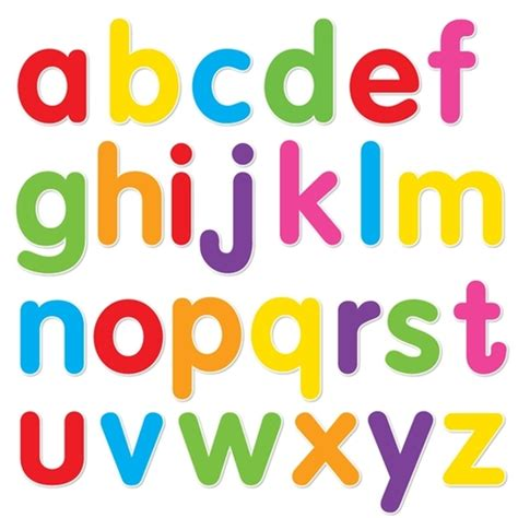 printable alphabet set alphabet set ii lowercase mixed colors walls 360