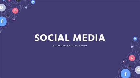 social media google slides template free google slides