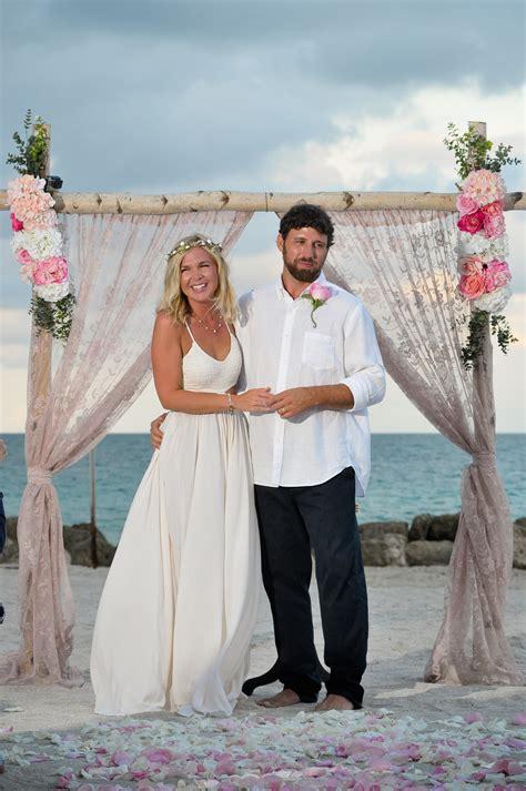 miami beach wedding  sunset wedding bells seashells