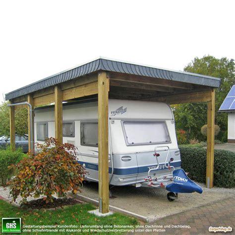 dachrinne carport caravan carport grundkonstruktion 4x6 typ 280 ohne