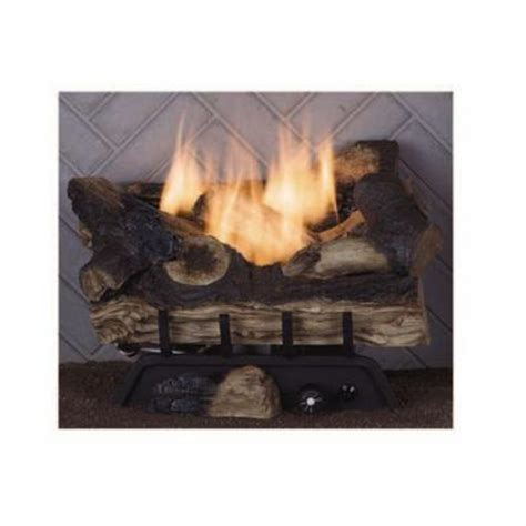 Propane Gas Logs For Fireplace by Emberglow Benton Oak 18 In Vent Free Dual Fuel Gas