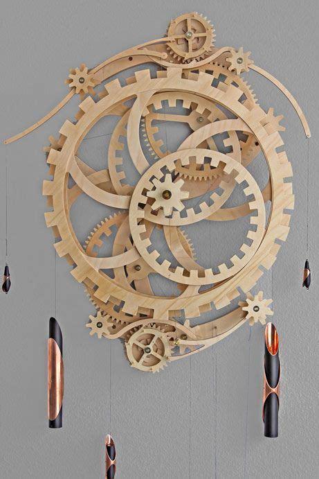 wooden gear clocks images  pinterest