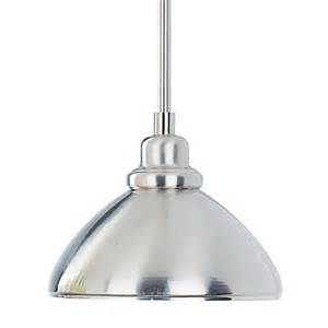 Mini Pendant Light Shades Shop Volume International 8 25 In W Brushed Nickel Mini Pendant Light With Metal Shade At Lowes