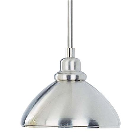 Brushed Nickel Pendant Lighting Shop Volume International 8 25 In W Brushed Nickel Mini Pendant Light With Metal Shade At Lowes