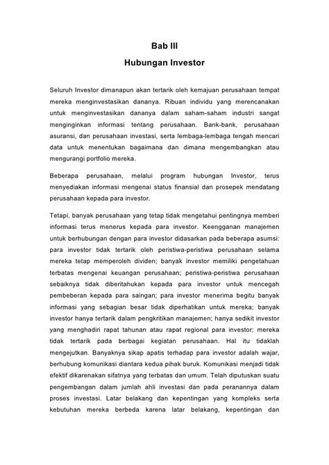 Manajemen Potofolio Dan Investasi Buku 2 tanggung jawab humas dalam investor relations dokumen