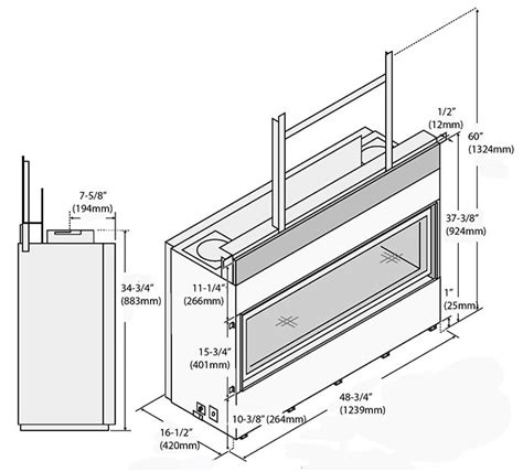 dimensions of a fireplace fpx 4415 ho gsr2 fireplace gas fireplaces pleasanton