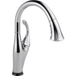 Delta Touch2o Kitchen Faucet delta addison touch2o chrome 1 hole pull down sprayer