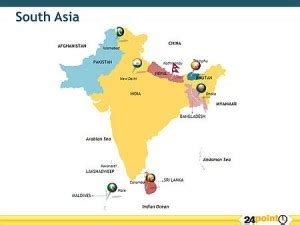 south asia map countries and capitals south asia maps countries capitals provinces south