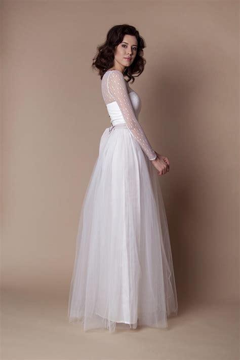 Lange Brautkleider by Langes Schmales Boho Brautkleid Kleiderfreuden