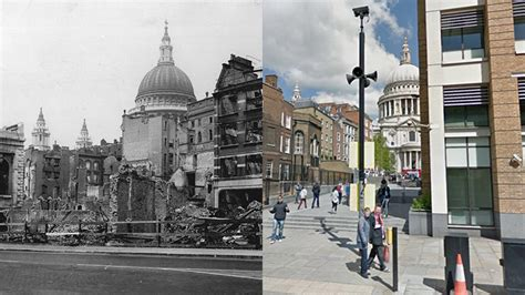 st paul s cathedral and uk cities transformed in 75 years since the blitz