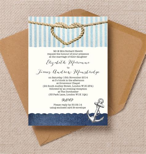 free printable wedding invitations nautical 17 of the best printable wedding invitations ever